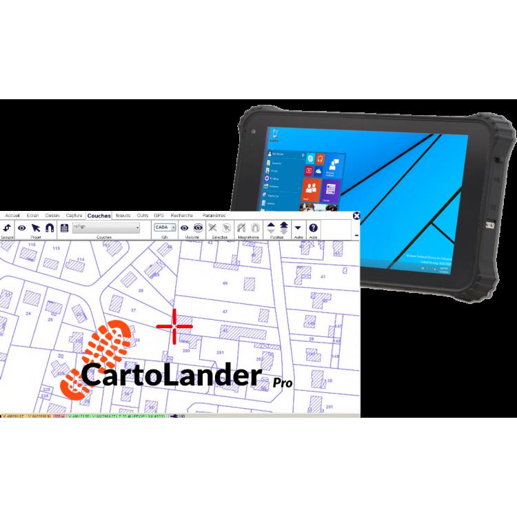 Bundle Tablette 8 pouces + CartoLander Pro